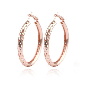 Metal Large Big Circle Punk Gold Earring For Wome Fashion Hollow Round Hoop Earrings Brincos Party Jewelry Gifts