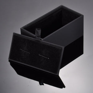 Black PU Box for Cuff-Link Premium Velvet Jewelry Box
