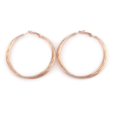 Fashion Gold Tone Round Earring For Women Punk Style Big Large Twist Circle Hoop Earrings Jewelry Brincos Gift