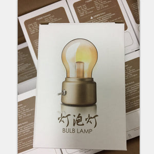 Vintage Bulb Night Light Retro USB Lamp Rechargeable Luminaria Nightlight LED Energy-saving Book Lights Mini Bed Lamps