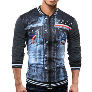 Slim Fitting Denim Fashion American Flag Outfit