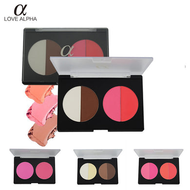 LOVE ALPHA 2 Colors Choices Shading Powder Blusher 2 Color Bronzer Set