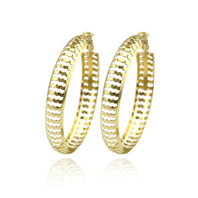 Punk Gold Metal Large Big Circle Earring For Wome Fashion Hollow Round Hoop Earrings Brincos Party Jewelry Gifts