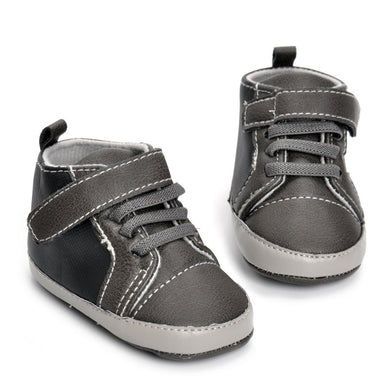 Fashion PU Velcro High-top Shoes for Baby Boys 0-1-year-old-boy Toddler Shoes