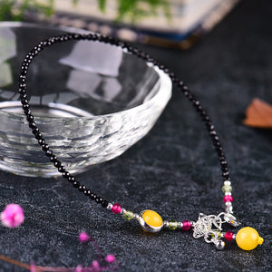 Black Agate Adjustable Ankle Bangle Exotic Anklet