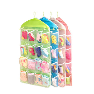 Household Items Wardrobe Pantyhose Socks Classification Storage Bag 16 Grid Storage Bag