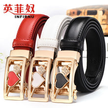 Heart Shape Cameo Buckle Skinny Synthetic Leather Belt