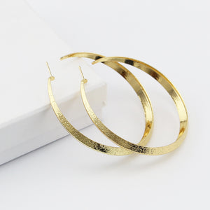Fashion 70mm Big Large Circel Hoop Earring For Women Punk Style Gold Color Round Earring Brincos Party Jewelry Gift