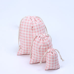 Plaid Cotton Candy Bag Wedding Gift Bag