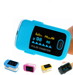 Pulse Oxygen Saturation Detector Of The Finger Type Oximeter Is The Heart Rate Monitor
