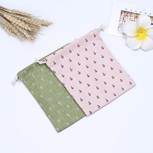 Anchor Printed Pattern Drawstring Storage Bag Tea Bag Candy Bag