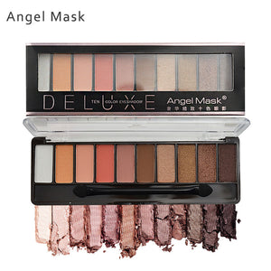Angel Mask 10 Colors Lustrous Eye Shadow Palette 6 Serial Colors Choices
