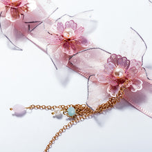 Flower Headband Korean Style Floral Hairwear Bridesmaids Brides Wedding Hair Accessories Handmade Ribbon Hairband Ornament