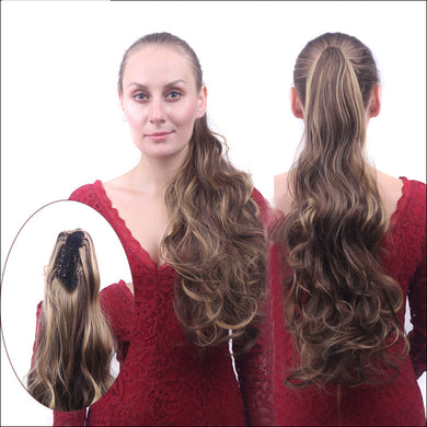 Loose Ribbons Perm Off Color Clip-in Hair Extension