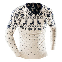 Christmas Pattern Long Sleeves Round Neck Sweaters