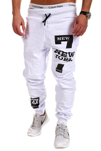Letters Pattern Long Casual Sports Trousers for Men