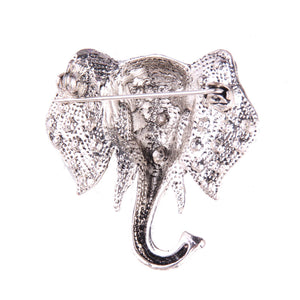 Vivid Elephant Design Rhinestone Brooches