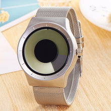 Tone Changing Analog Quartz Watch Steel Band Watch for Men