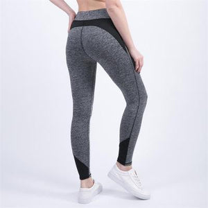 Women Workout Mid Waist Activity Pants Fitness Elastic Leggings