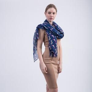 Cartoon Dachshund Pattern Voile Scarves for Women