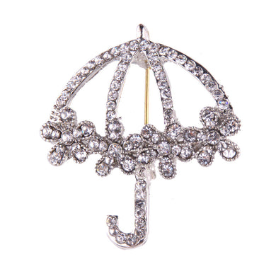 Rhinestone Umbrella Design Brooch