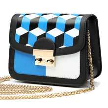3D Blocks Pattern Fashion Small Size Chain Bag