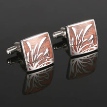 Field Reeds Pattern Square Cuff Links