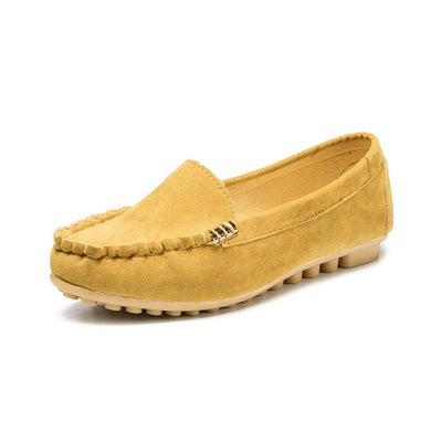 Ladies Candy Color Casual Slip-on Shoes
