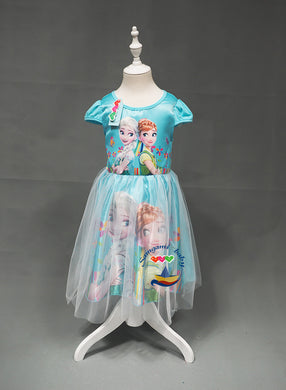 Beautiful Girls Summer Evening On Children Dresses Cute Girls Cartoon Snow White Print Dresses