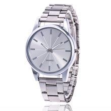LASER Plate Alloy Band Analog Quartz Casual Watch