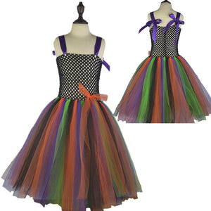 Lightweighted Rainbow Colors Apron Dresses Flower Girl Dress Halloween Dress