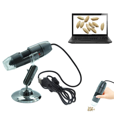Microscopio 20X ~ 800X USB Digital Microscope 800x 8 Led Lights Endoscope Magnifier 0.3mp Camera Measure Software