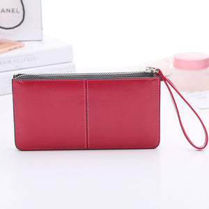 Hot Style Oilskin Lady's Wallet Long Wallet Large Capacity Clutch Bag