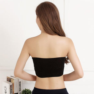 Strapless Bra Padded Stretch Seamless Bandeau Tube Bra Top for Women Girls