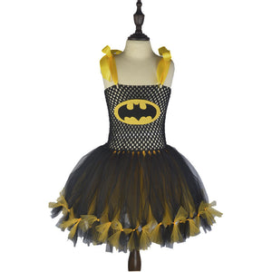 Black Lightweighted Apron Dresses Flower Girl Dress Fluffy Halloween  Dress