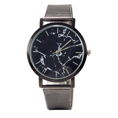 Marble Pattern Plate Analog Quartz Watch for Men