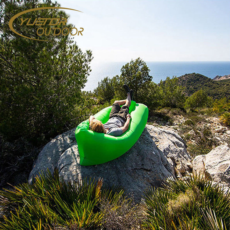 Air Sofa Lazy Sleeping Bag Outdoor Beach Shade Inflatable Bed