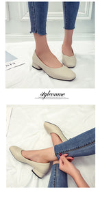 Retro All Matching Flat Shoes for Ladies