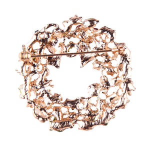 Flower Wreath Design Women Brooch