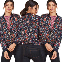 Fashion Loose Floral Pattern Long Sleeve Jacket for Women