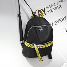 Black Backpack with Yellow Ribbon Pattern