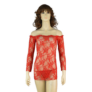 European And American Sexy Long-Sleeved Lace Pajama Lingerie Set Foreign Trade Goods Source