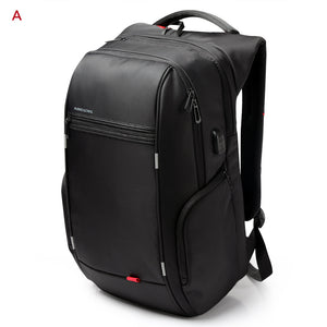 Black 17 inches Big Capacity Laptop Backpack