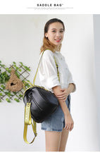 Street Style Women's Black Backpack with Strape