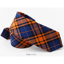 Cotton Checked Tie Style Casual Man European Style Narrow 6cm Tie