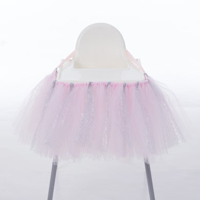 High Chair Decoration Favor Baby Shower Party Decoration Tulle Table Skirts Cover Table Cloth