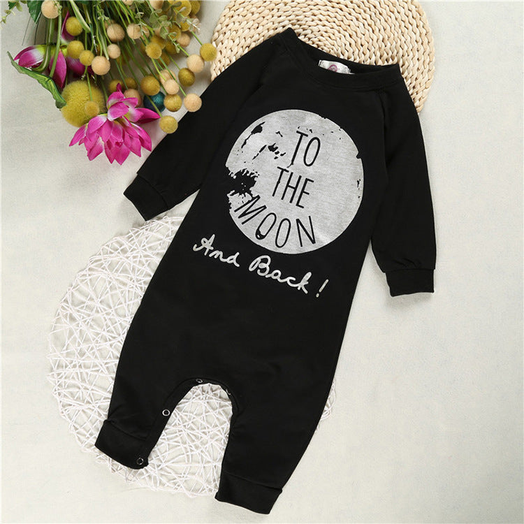 Pattern Printed Long Sleeves Fashion Baby's Overalls