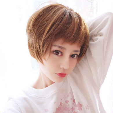 Popular Female Fashion Personality BOBO Bangs Short Hair Straight Hair