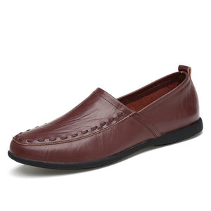 Men Breathable Casual Shoes Leather Flats Fashion Casual Shoes (1 pair)