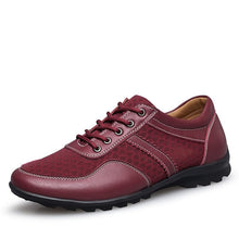 Mens Breathable High Quality Casual Shoes Leather Casual Shoes Slip On men Fashion Flats (1 pair)